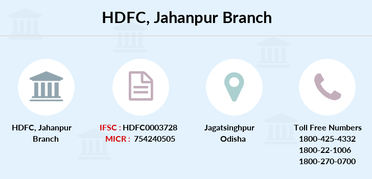 Hdfc-bank Jahanpur branch