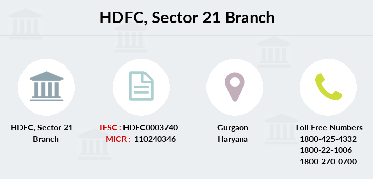 Hdfc-bank Sector-21 branch