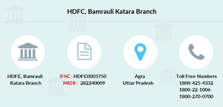 Hdfc-bank Bamrauli-katara branch