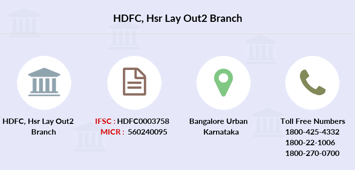 Hdfc-bank Hsr-lay-out2 branch