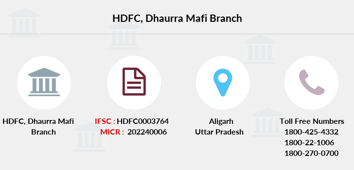Hdfc-bank Dhaurra-mafi branch