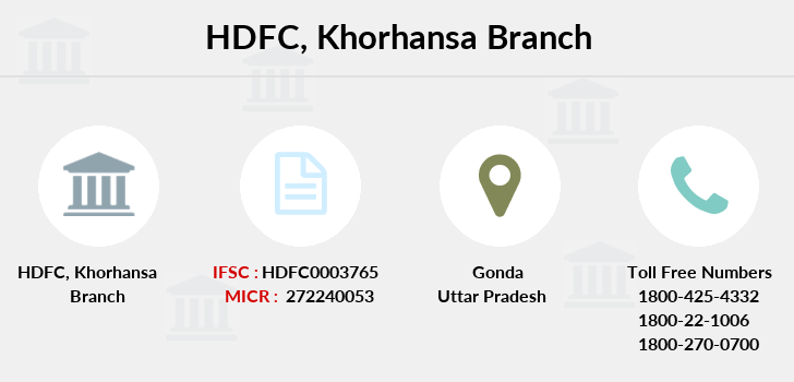 Hdfc-bank Khorhansa branch