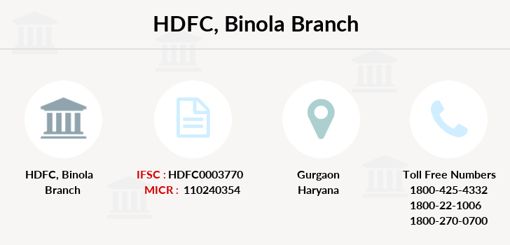 Hdfc-bank Binola branch
