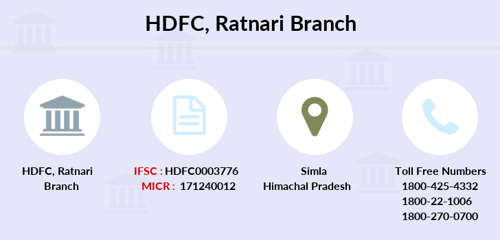 Hdfc-bank Ratnari branch