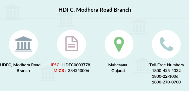 Hdfc-bank Modhera-road branch