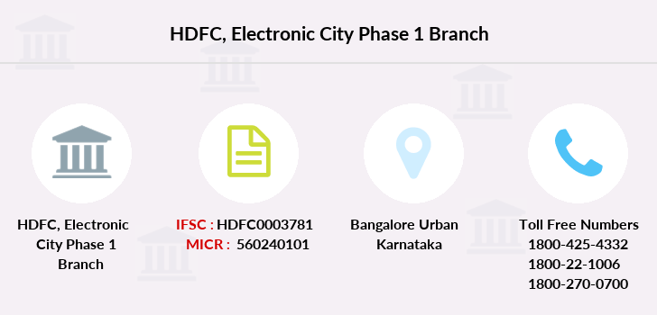 Hdfc-bank Electronic-city-phase-1 branch