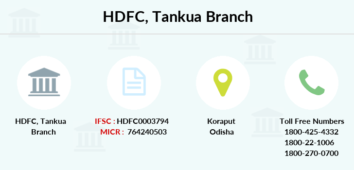 Hdfc-bank Tankua branch