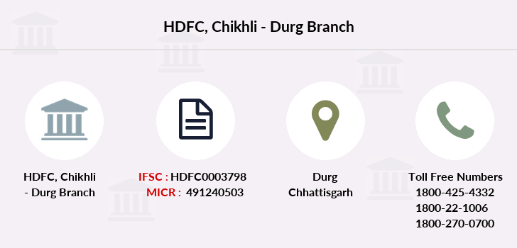 Hdfc-bank Chikhli-durg branch
