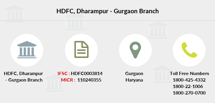 Hdfc-bank Dharampur-gurgaon branch