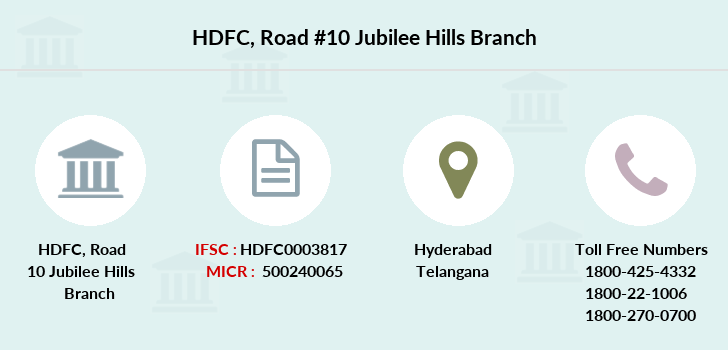 Hdfc-bank Road-10-jubilee-hills branch