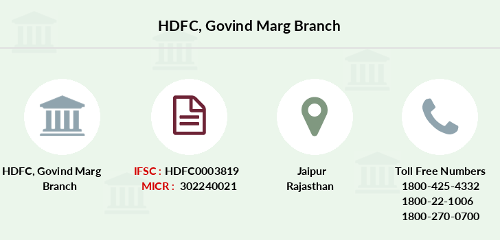 Hdfc-bank Govind-marg branch