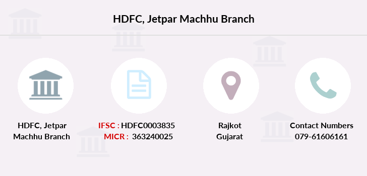 Hdfc-bank Jetpar-machhu branch