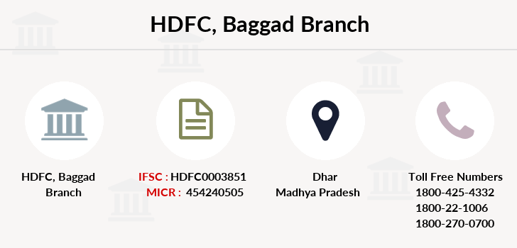 Hdfc-bank Baggad branch