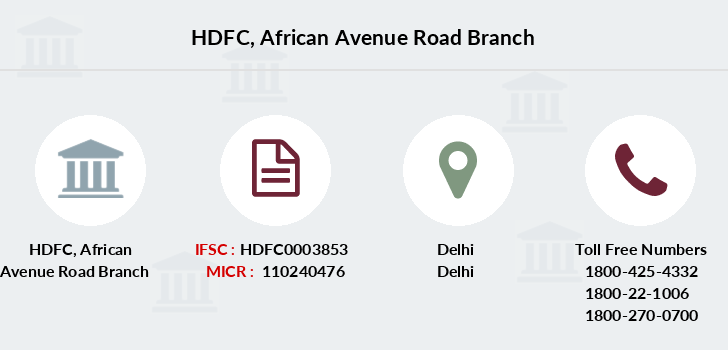 Hdfc-bank African-avenue-road branch