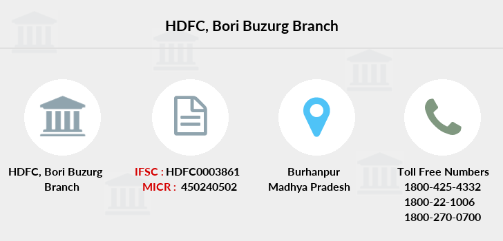 Hdfc-bank Bori-buzurg branch