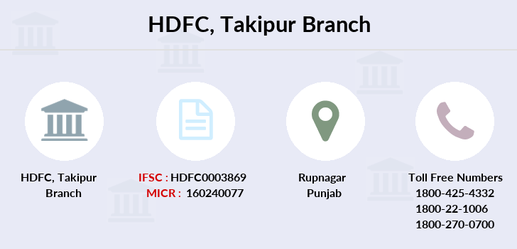 Hdfc-bank Takipur branch
