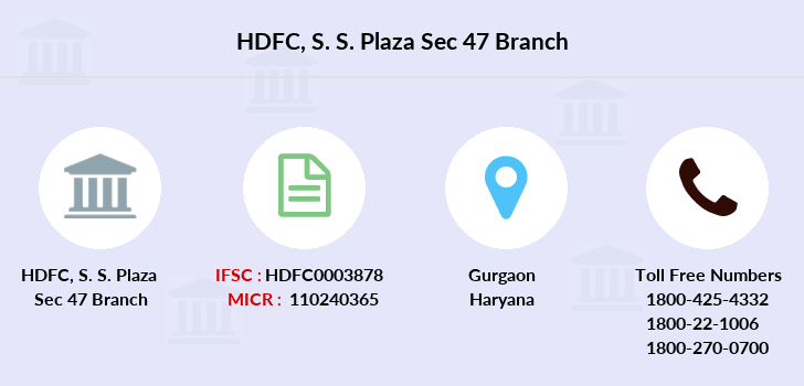 Hdfc-bank S-s-plaza-sec-47 branch
