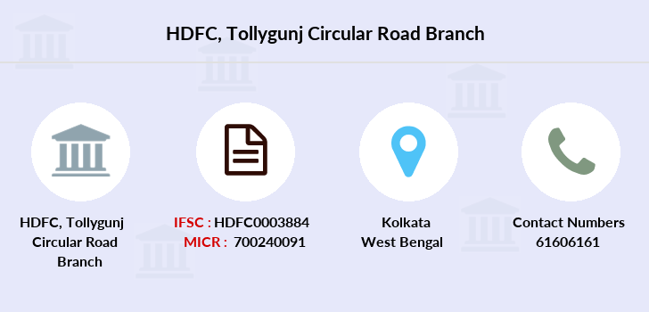 Hdfc-bank Tollygunj-circular-road branch