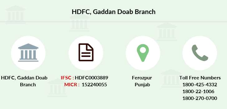 Hdfc-bank Gaddan-doab branch