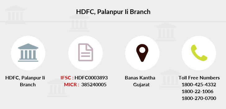 Hdfc-bank Palanpur-ii branch