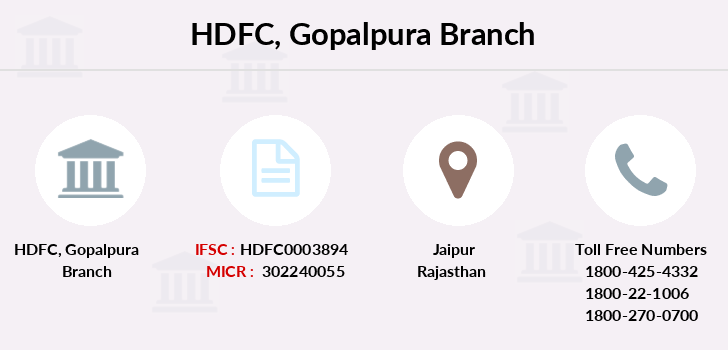 Hdfc-bank Gopalpura branch