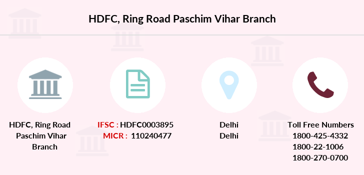 Hdfc-bank Ring-road-paschim-vihar branch