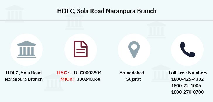 Hdfc-bank Sola-road-naranpura branch