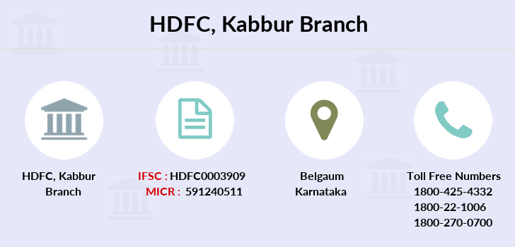 Hdfc-bank Kabbur branch