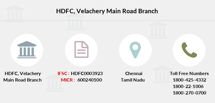 Hdfc-bank Velachery-main-road branch