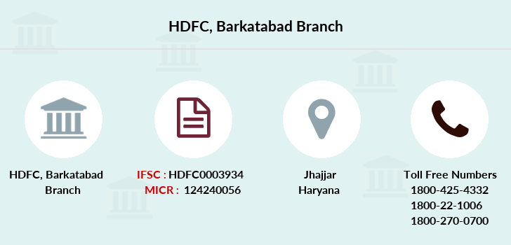 Hdfc-bank Barkatabad branch