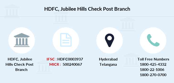 Hdfc-bank Jubilee-hills-check-post branch