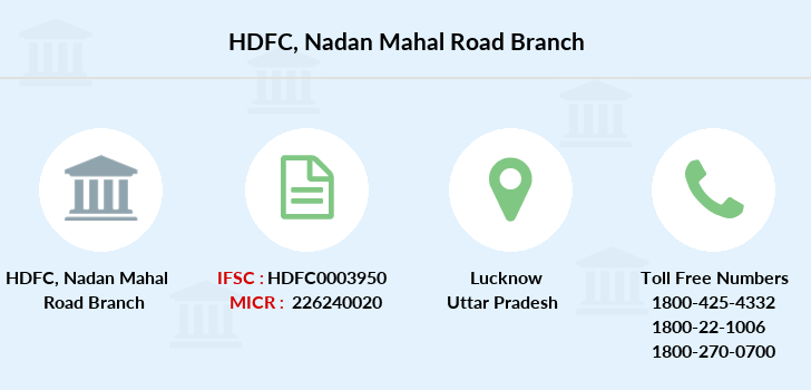 Hdfc-bank Nadan-mahal-road branch