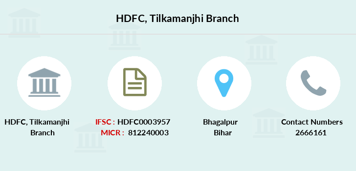 Hdfc-bank Tilkamanjhi branch
