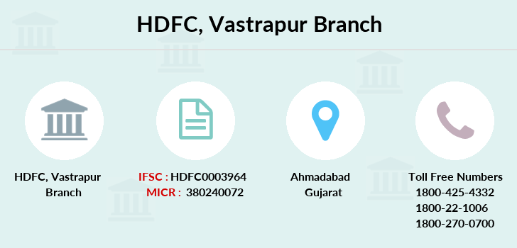 Hdfc-bank Vastrapur branch