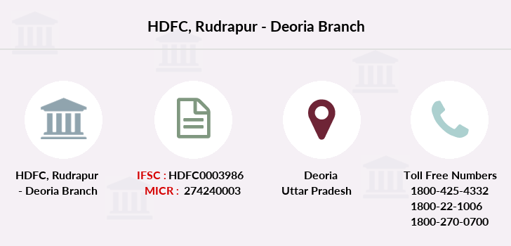 Hdfc-bank Rudrapur-deoria branch