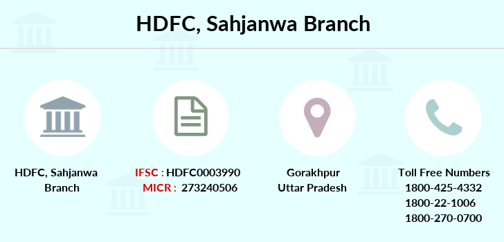 Hdfc-bank Sahjanwa branch