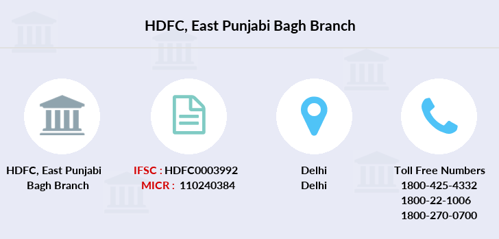 Hdfc-bank East-punjabi-bagh branch