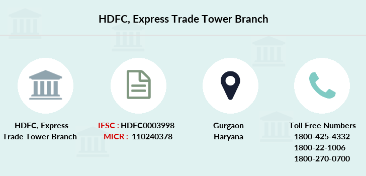 Hdfc-bank Express-trade-tower branch