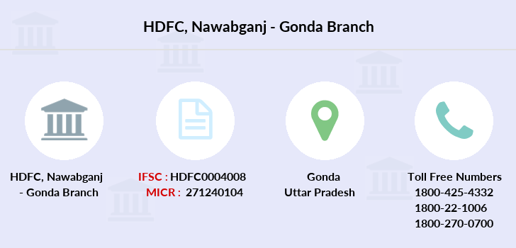Hdfc-bank Nawabganj-gonda branch