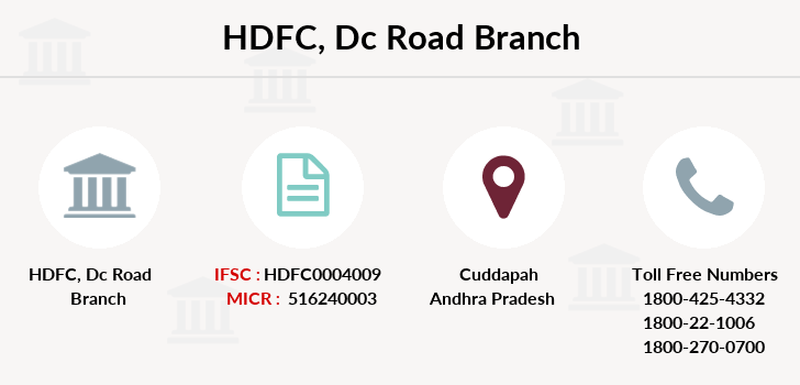 Hdfc-bank Dc-road branch