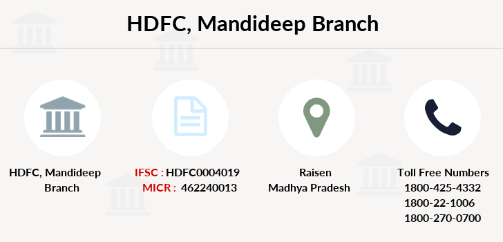 Hdfc-bank Mandideep branch