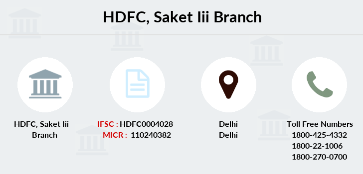 Hdfc-bank Saket-iii branch