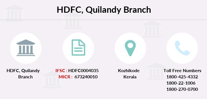 Hdfc-bank Quilandy branch