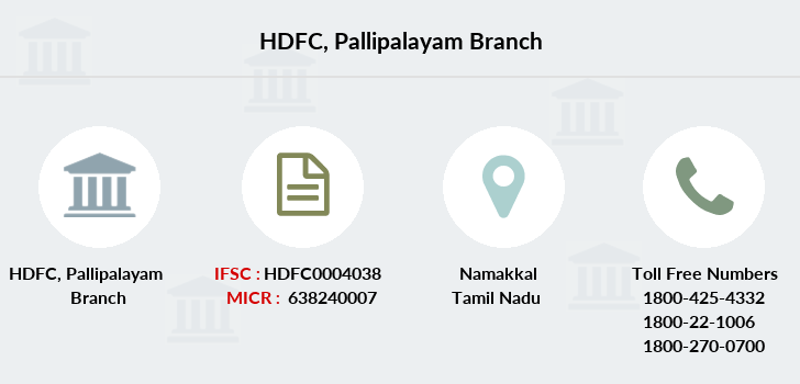 Hdfc-bank Pallipalayam branch