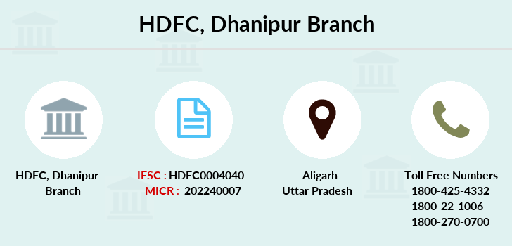 Hdfc-bank Dhanipur branch