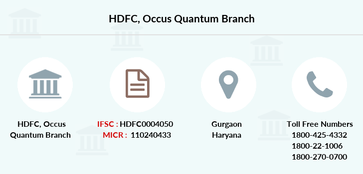 Hdfc-bank Occus-quantum branch
