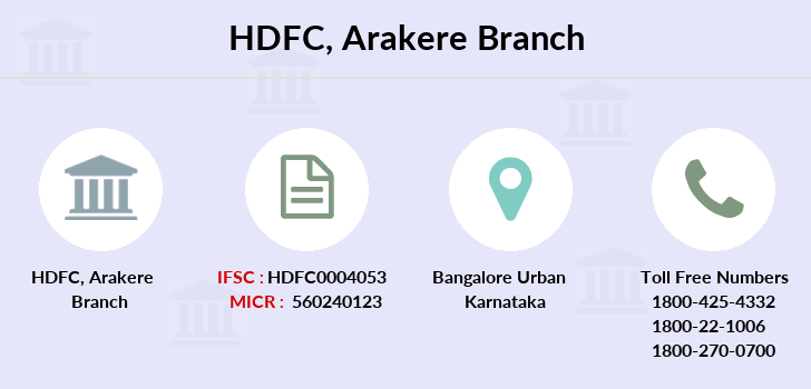 Hdfc-bank Arakere branch
