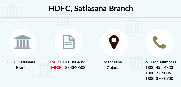 Hdfc-bank Satlasana branch