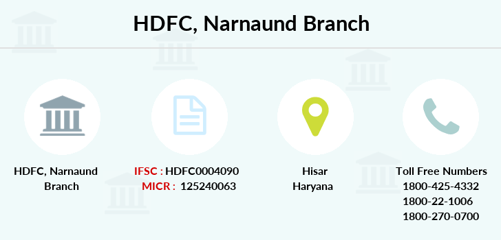 Hdfc-bank Narnaund branch