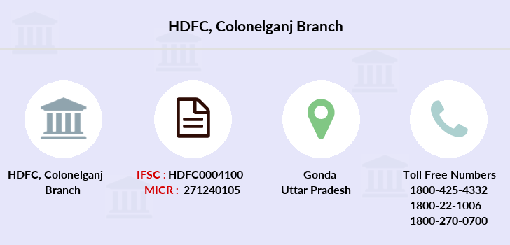 Hdfc-bank Colonelganj branch